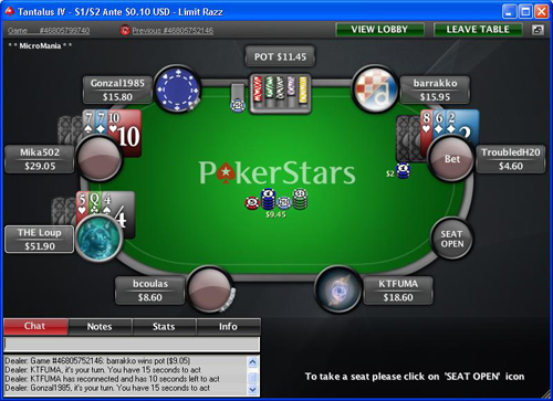 Play Razz Poker at PokerStars